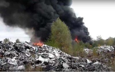 Płoną niebezpieczne odpady